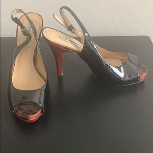 Black and Red Steven Madden Heels Sz 8